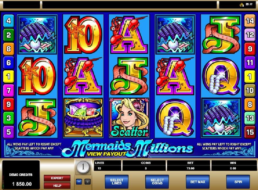 Hrací automaty Mermaids Millions
