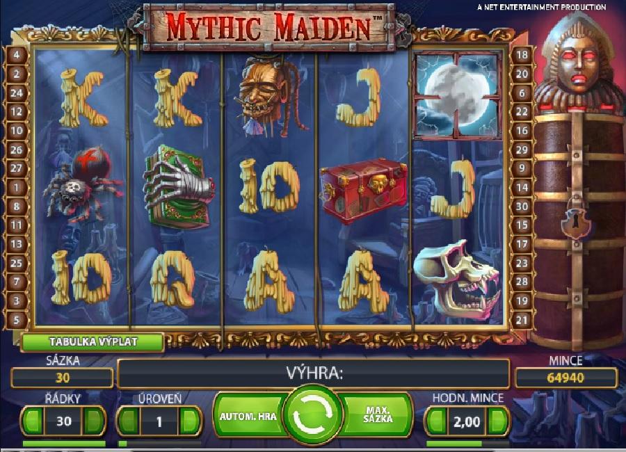 Automatová hra Mythic Maiden