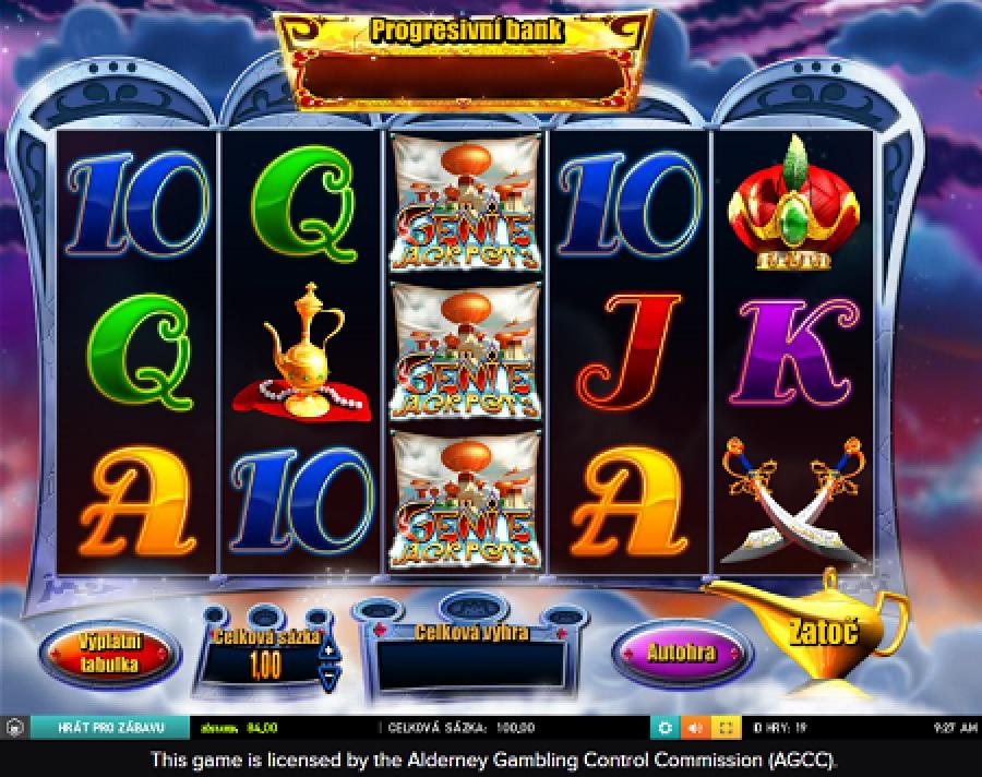 Genie Jackpots výherní automat
