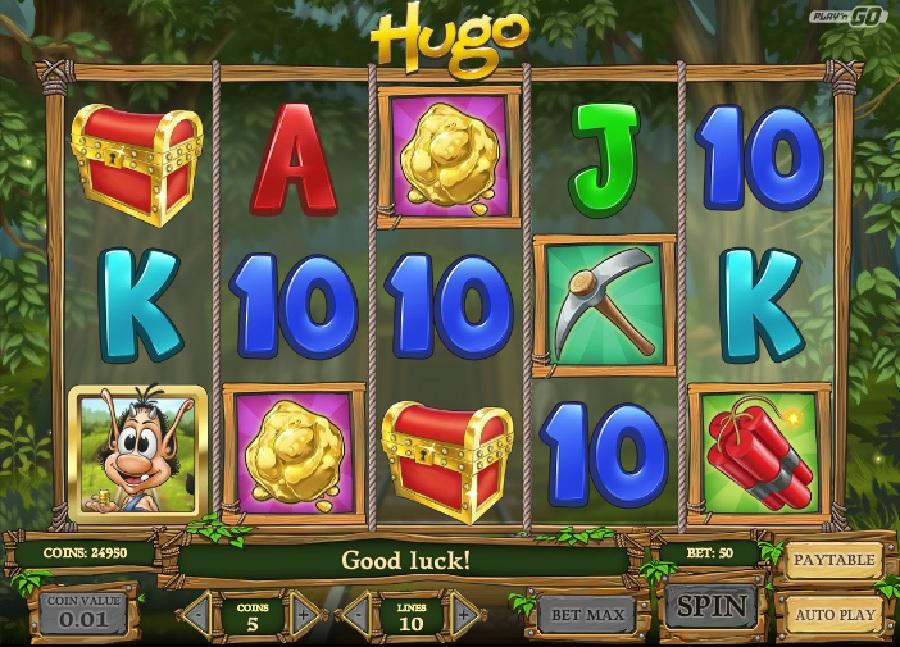 Hrací výherní automaty Hugo