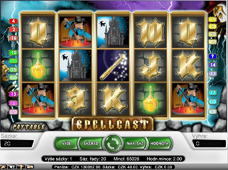 Spellcast výherné hracie automaty