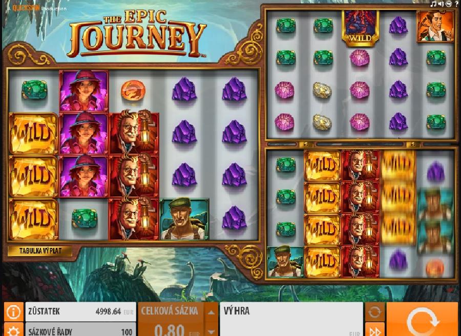Hracie automatové hry The Epic Journey