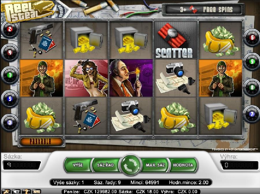 Hracie automaty Reel Steal zadarmo