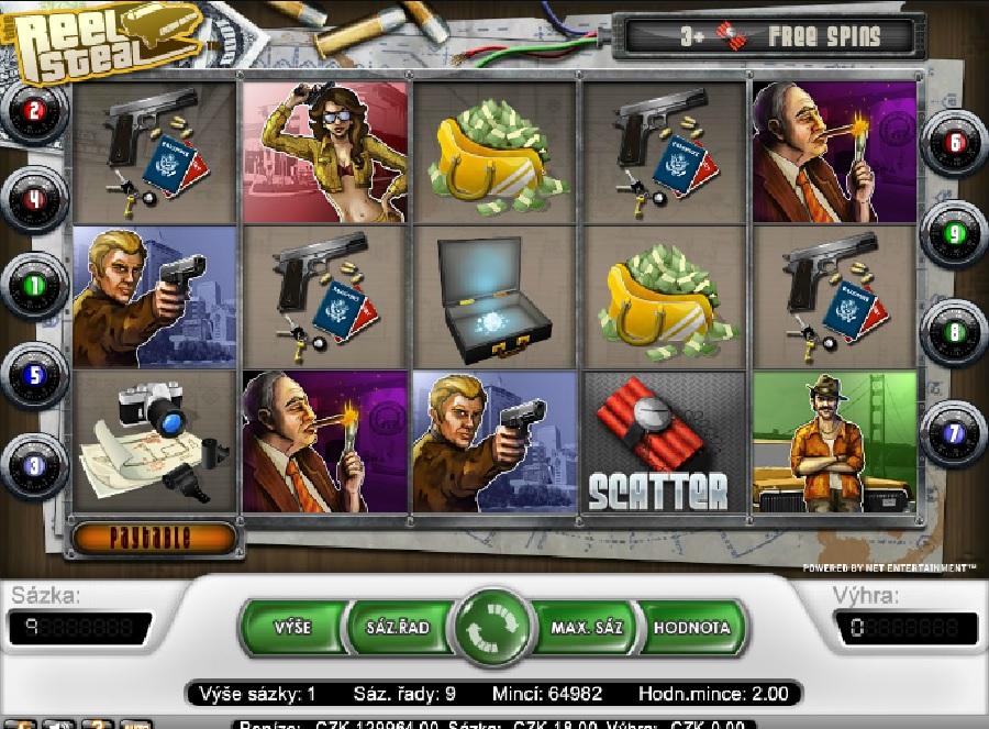Hrací výherní automaty Reel Steal