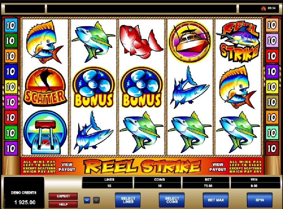 Reel Strike automaty zdarma