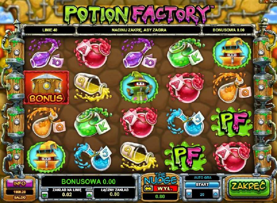 Potion Factory slotowe gry