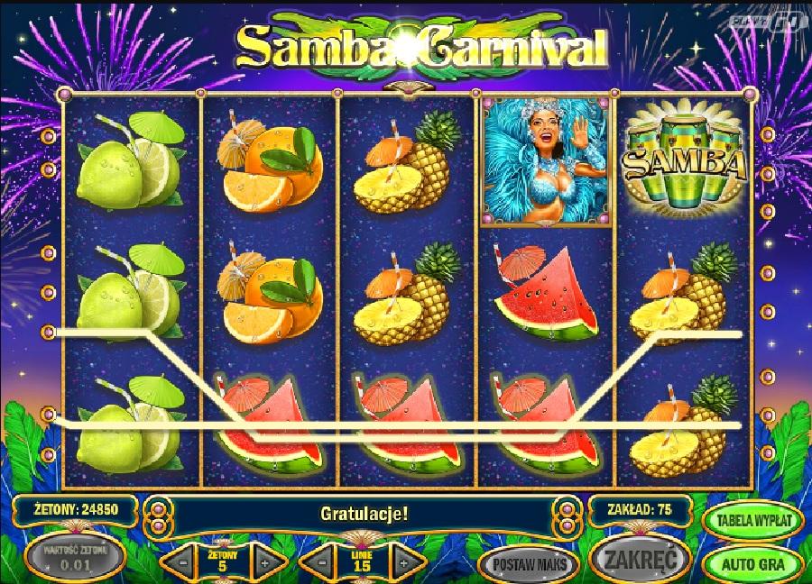Samba Carnival automaty do gry