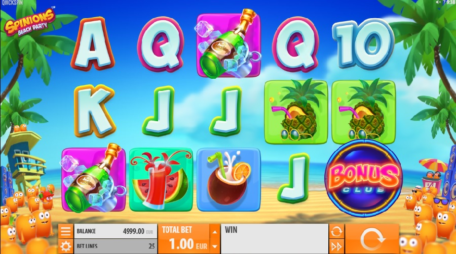 Video slot Spinions: Beach Party