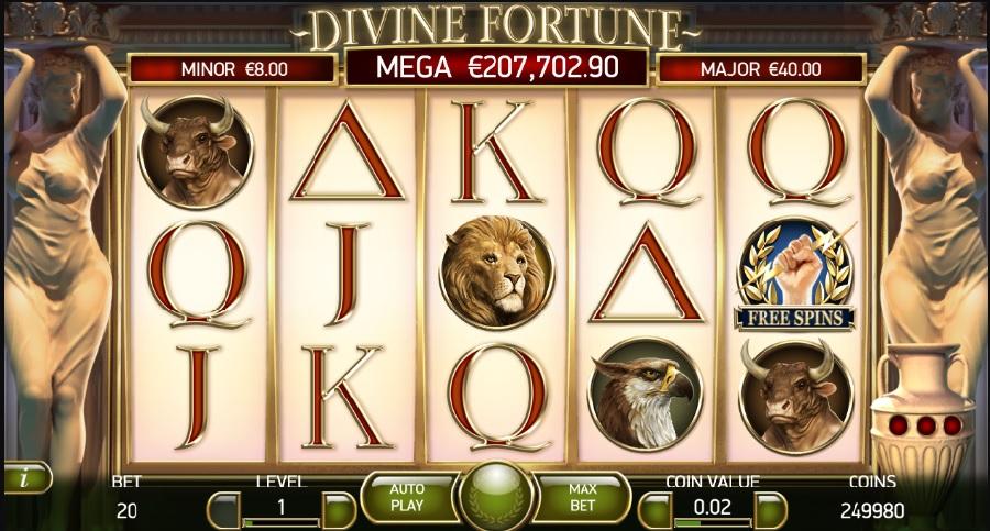 Hry automaty Divine Fortune bez vkladu