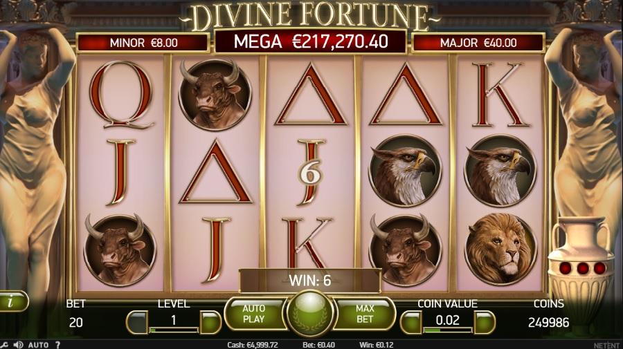 Kasíno automaty Divine Fortune