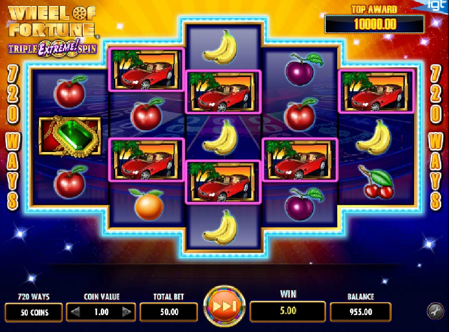 Wheel of Fortune Tripple extreme spins free slots