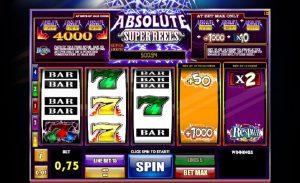 Absolute super Reels hry kasína zadarmo