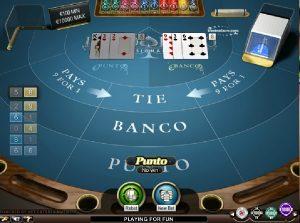 Punto Banco VIP stolové hry zadarmo