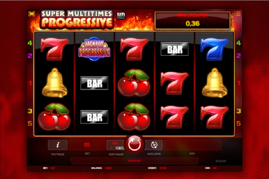 Super Multitimes Progressive kasino hry zdarma