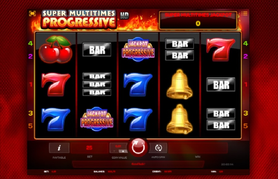 Super Multitimes Progressive online video sloty