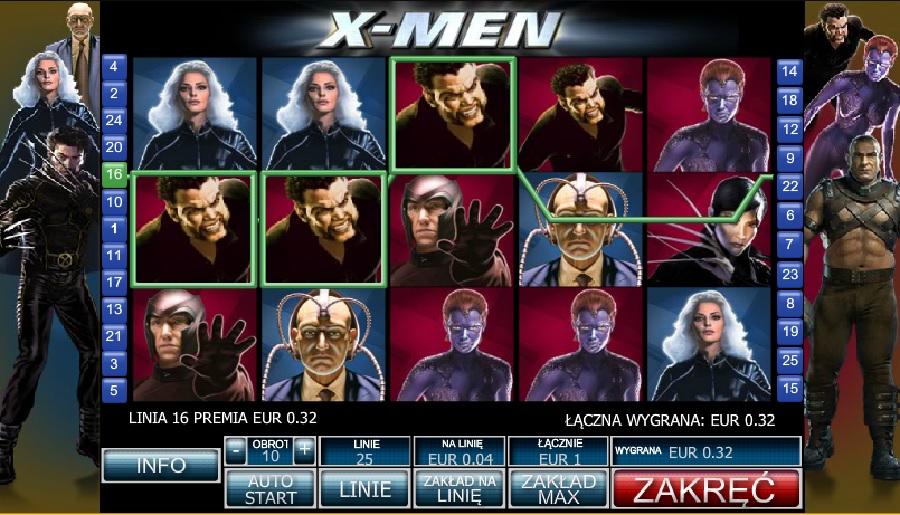 X-men darmowe automaty