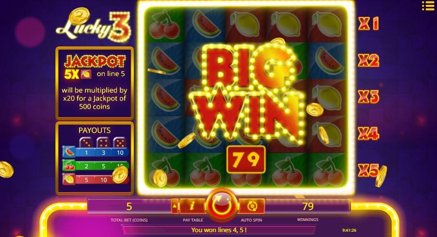 Hrací Automat Lucky 3