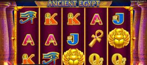 Ancient Egypt casino slot inspired with the popular casino games