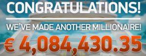 Padl Jackpot 4 084 430,35 € na Mega Fortune Dreams
