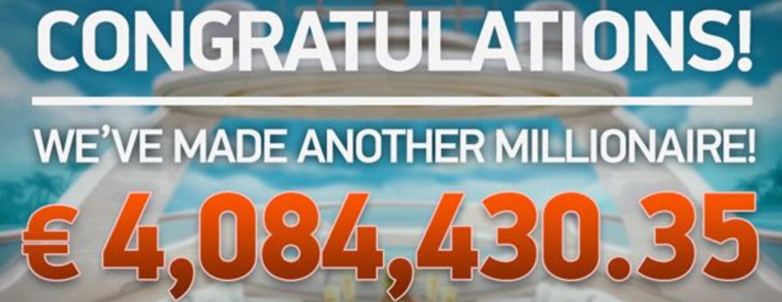 Padol Jackpot 4 084 430,35 € na Mega Fortune Dreams