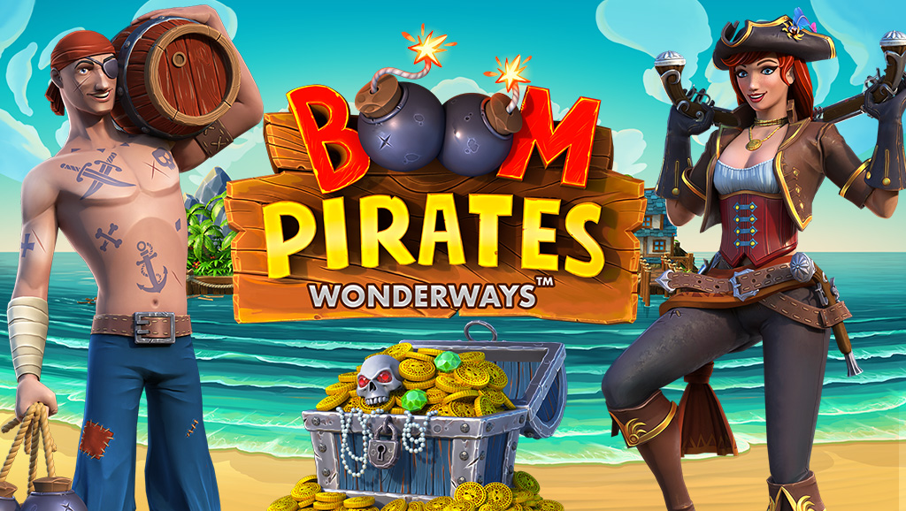 Boom Pirates slot game with the Wonderways feature