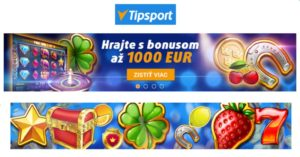 Tipsport ponúka bonus 1 000 eur!