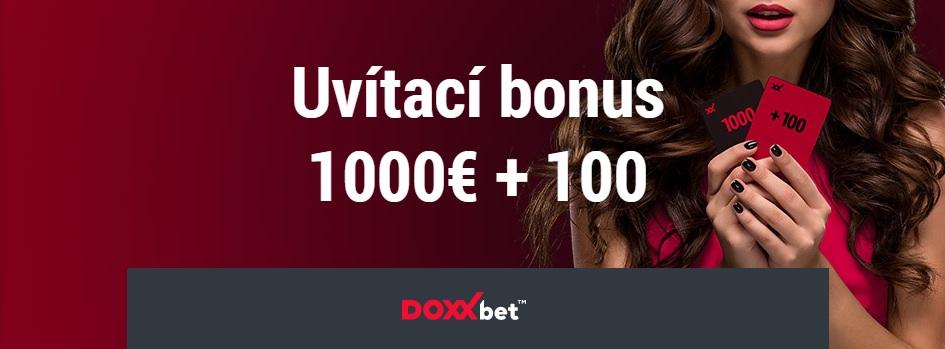 Uvítací bonus až 1000€ a 100 točení zadarmo