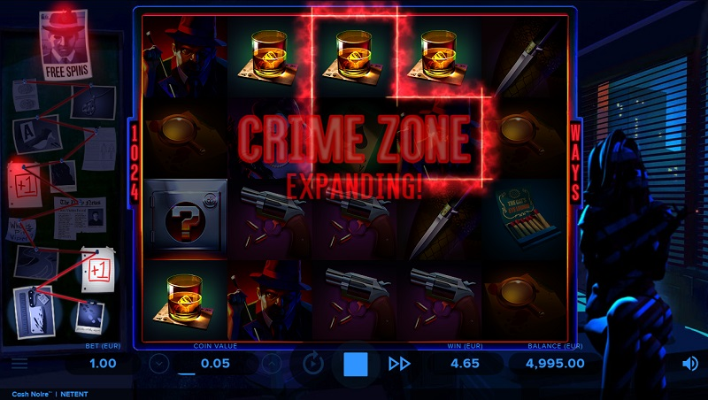 Pomôžte detektívovi v online automate Cash Noire